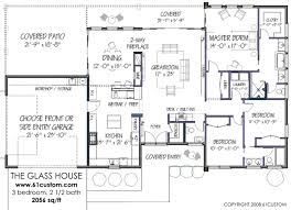 modern home floor plan modernist 3br 2056 sq ft http www 61custom images