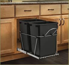 pull out trash bin cabinet home design ideas