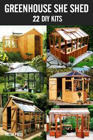 build a greenhouse she shed from a diy kit gardening pinterest