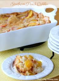 southern peach cobbler recipes food and cooking