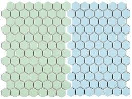 Retro Bathroom Flooring 2 New Porcelain Hex Tile Floor Options For Your Vintage Pastel