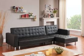 Modern Corner Sofa Bed Black Orlando Leather Corner Sofa Bed Furniturebox