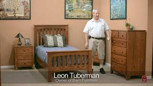 barn furniture amish shaker bedroom set youtube