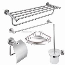 Bathroom Accessories Store by Steel 5 Piece Bathroom Accessories Kit Brushed Hardware Set Towel