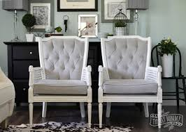 Reupholstering Armchair A Vintage Cane Chair Pair Makeover In Grey Velvet The Diy Mommy