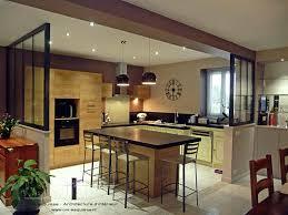 cuisine ouverte avec ilot table délicieux cuisine ouverte avec ilot central 4 268049 cuisine