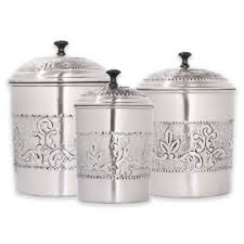 stainless steel canister sets kitchen buy stainless kitchen canister from bed bath beyond