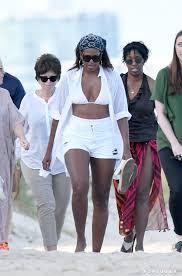 does michelle obama wear hair pieces michelle obama s white bikini in miami popsugar fashion