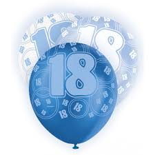 balloons for 18th birthday birthday glitz balloons 18 blue from all you need to party uk