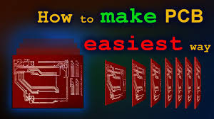 how to make pcb at home easiest way youtube