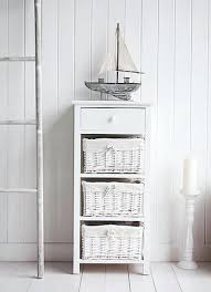 Bathroom Storage Freestanding Free Standing Bathroom Shelves New White Basket Unit