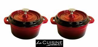 cocotte cuisine mini cocotte set cast iron cooking small pot ramekin serving oven