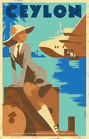 government bureau travel poster for government travel bureau colombo ceylon mads