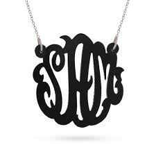 Monogrammed Necklace Acrylic Monogram Necklace Eve U0027s Addiction