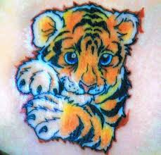 57 cute baby tiger tattoos ideas