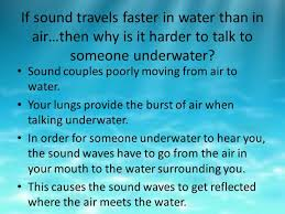 how do sound waves travel images Sound waves travel faster in water than air jpg