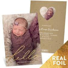 shining hello birth announcements pear tree