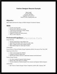 Resume Examples Internship Breathtaking Fashion Resume Examples