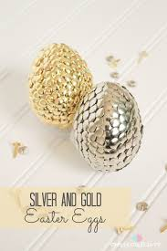 gold easter eggs silver and gold easter eggs