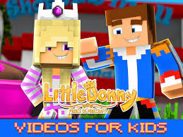 amazon com little donny prince of minecraft videos for kids