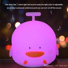 night light sound 2018 little duck rechargeable led night light with sounding silicone