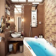 Mosaic Bathroom by Brown Mosaic Bathroom Tile Interior Design Ideas