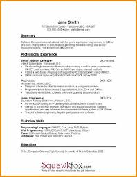 Programming Resume Examples by Sample Net Resumes For Experienced Best Free Resume Collection