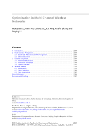 Mcdonalds Manager Resume Optimization In Multi Channel Wireless Networks Springer