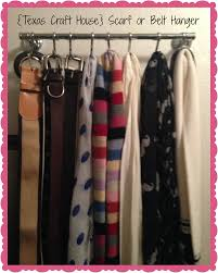 Creative Way To Hang Scarves by Simple Scarf Or Belt Hanger Texas Craft House
