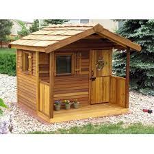 Backyard Play Houses by Cedar Shed Log Cabin Cedar Playhouse Outdoor Playhouses At Play