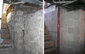before u0026 after failing basement wall