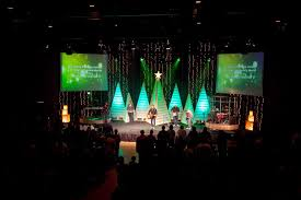 White Christmas Stage Decorations by Christmas Stage Set Ideas Set Stage Design Mhz Ministries