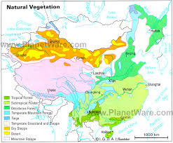 middle east map kazakhstan asia vegetation and plant distribution maps library