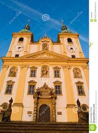 church baroque architecture czech republic stock photography