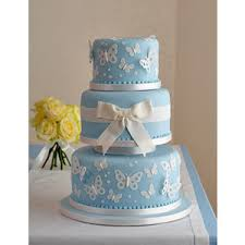 Blue Butterfly Wedding Cake Polyvore
