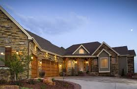 Ranch Style House Plans With Walkout Basement Craftsman Home With Angled Garage 9519rw Architectural Designs