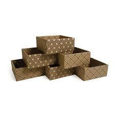 Diamond Print Decorative Storage Boxes Short Cubby Bins Kid