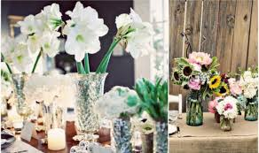 Simple Vase Centerpieces Romantic Pink Wedding Flower Centerpiece Silver Vase