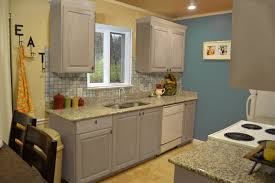 Grey Cabinet Kitchen Blue Grey Painted Kitchen Cabinets Home Designs Kaajmaaja