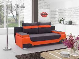canapé convertible orange canapé lit pas cher noir et ou bleu ou vert ou orange