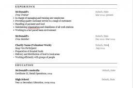 Cashier Job Responsibilities For Resume by Mcdonald U0027s Crew Resume Reentrycorps