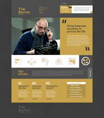informational website templates personal page responsive website template 50638