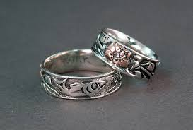 custom wedding bands east meets west in our story custom wedding rings