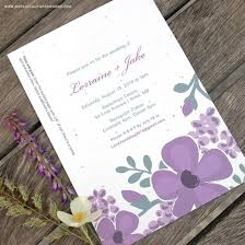 Blank Wedding Invitation Kits Seed Paper Printable Wedding Invitations Kit Plantable Wedding