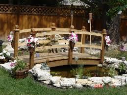 yard bridge pond bridges