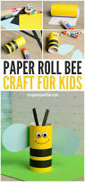 cute toilet paper roll bee craft for kids nod crafty kids
