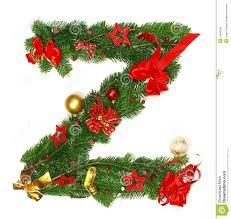 christmas alphabet letter z royalty free stock photos image
