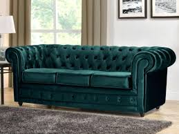 canap velours canape chesterfield en velours canapac 18 2 places noir