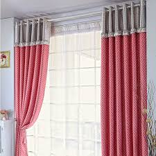 Pink Polka Dot Curtains Ready Made Pink Blackout Polyester Polka Dot Curtains