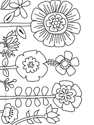 coloring parts of a flower coloring page